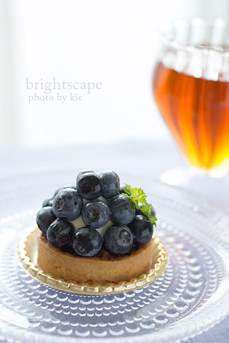 有機ブルーベリーのケーキ