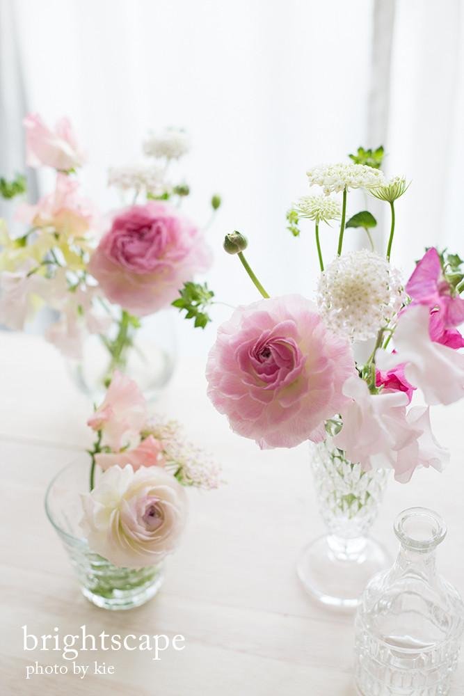 ラナンキュラスや春の花