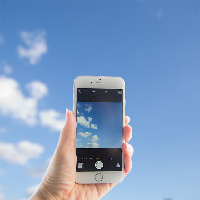iPhoneカメラで、空を青く撮る方法