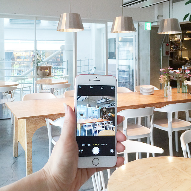 iPhoneでカフェのインテリアを撮ろう